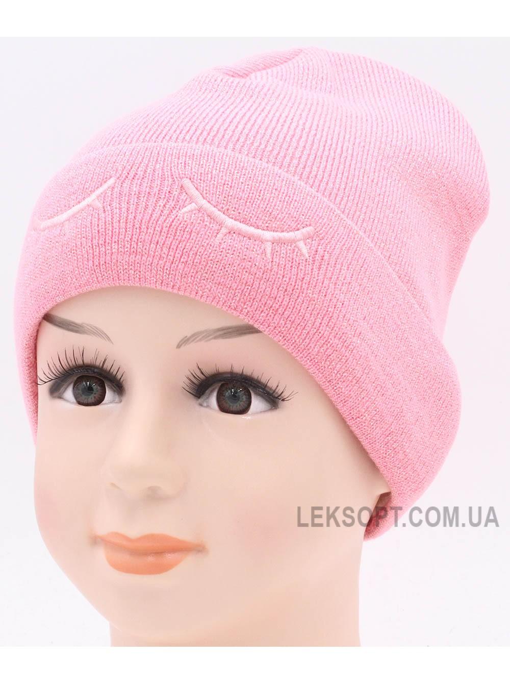 Детская вязаная шапка Глазки D46625-48-52