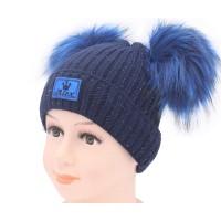 Детская вязаная шапка D46829-44-48
