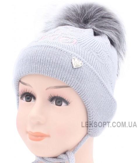 Детская вязаная шапка D46927-44-48