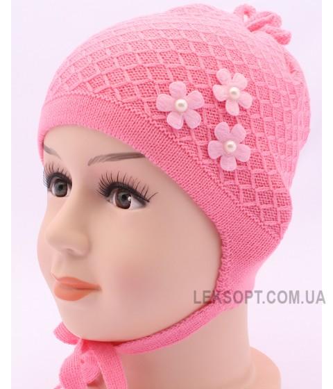 Детская вязаная шапка Ромашка DV1316-44-48