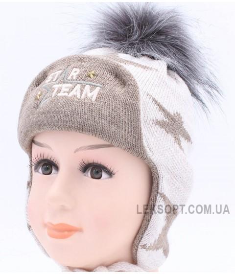 Детская вязаная шапка Команда D43827-44-48