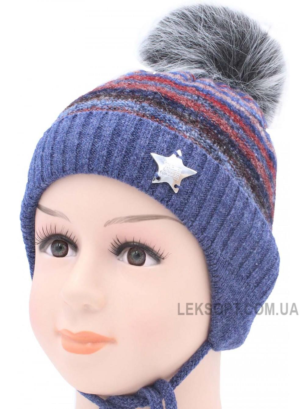 Детская вязаная шапка D40629-44-48