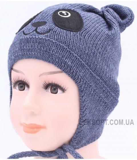 Детская вязаная шапка Панда D42926-44-46
