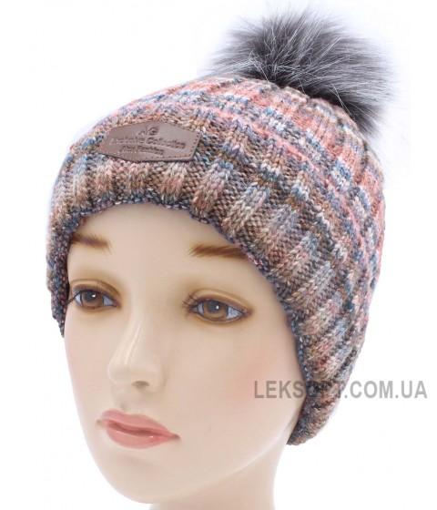 Детская вязаная шапка Лофт D44328-52-58