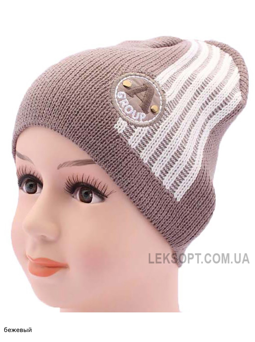 Детская вязаная шапка DV1017-44-48
