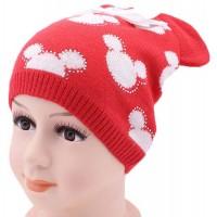Детская вязаная шапка Микки-Ушки