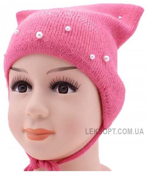 Детская вязаная шапка Пуси-Кет