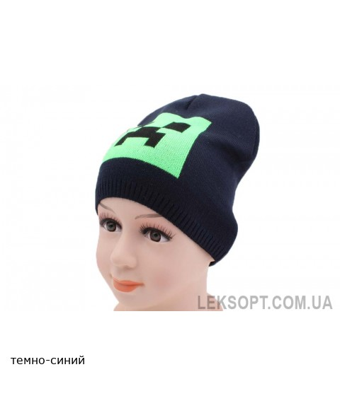 Детская вязаная шапка Крипер