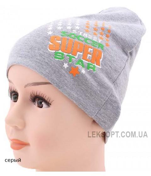 Детская трикотажная шапка Футболист