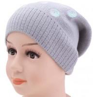 Детская вязаная шапка 129022-52-54