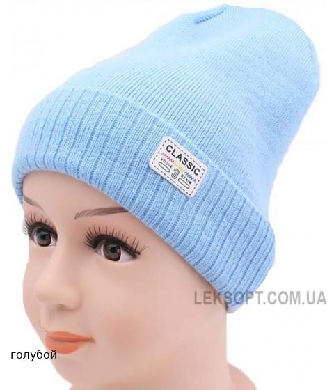 Детская вязаная шапка 128016-50-52