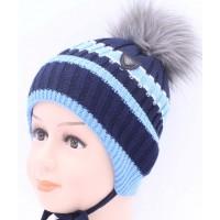 Детская вязаная шапка BVW00826-48-54