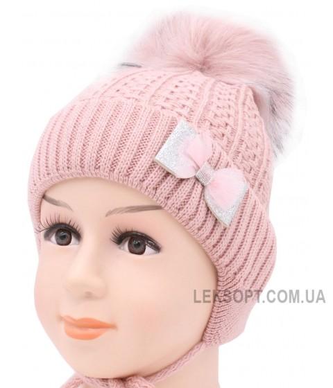 Детская вязаная шапка Бантик D51532-44-48