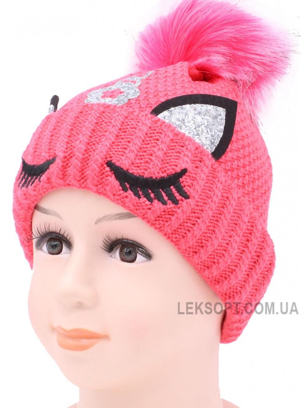 Детская вязаная шапка Единорог D57735-46-50