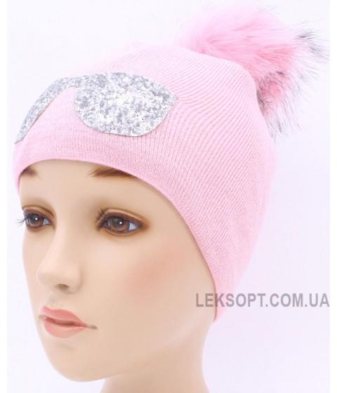 Детская вязаная шапка Очки D53033-46-50