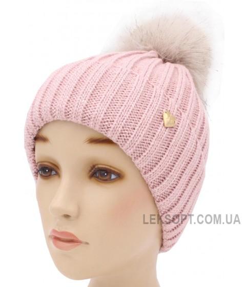 Детская вязаная шапка София W30133-52-56
