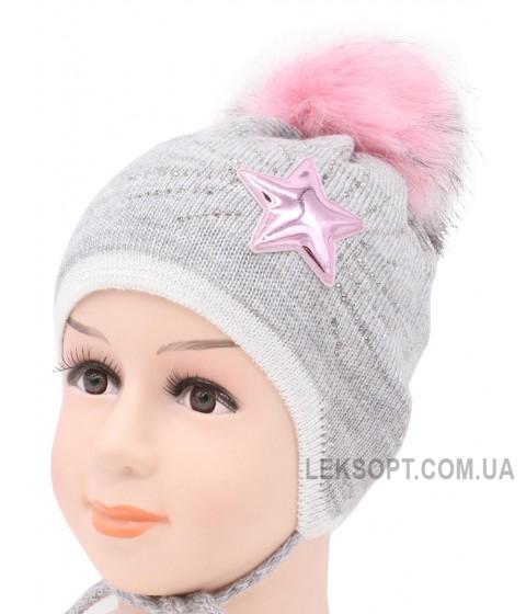 Детская вязаная шапка Тина D57234-44-48