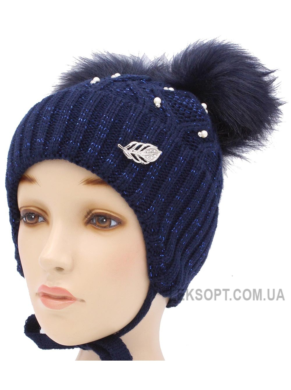Детская вязаная шапка S95-20-34-54-56