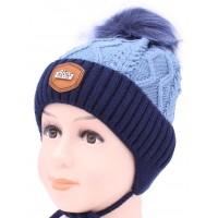 Детская вязаная шапка Кидс D51933-46-50