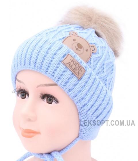 Детская вязаная шапка Медвежонок D52232-44-48