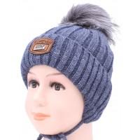 Детская вязаная шапка Оливер D50633-46-50