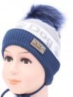 Детская вязаная шапка Супер Дог D50330-44-48