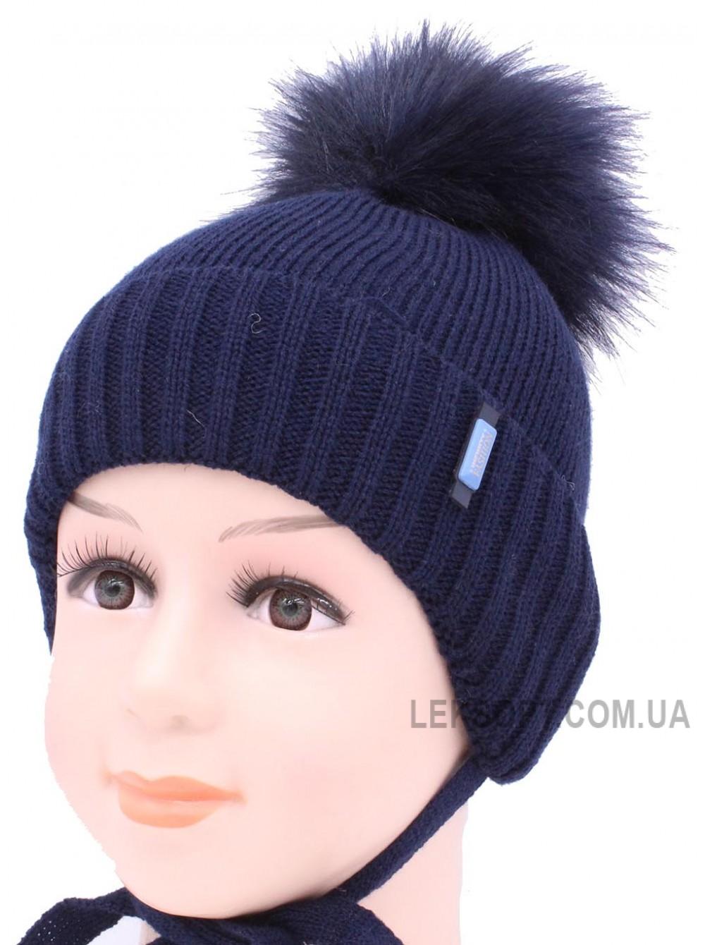 Детская вязаная шапка S97-16-25-46-48