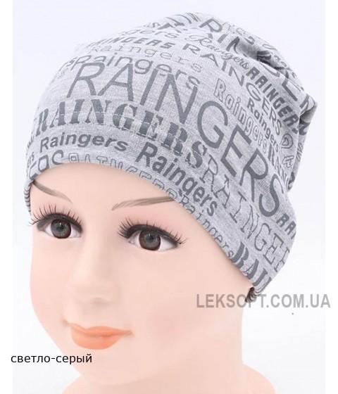 Детская трикотажная шапка Газета