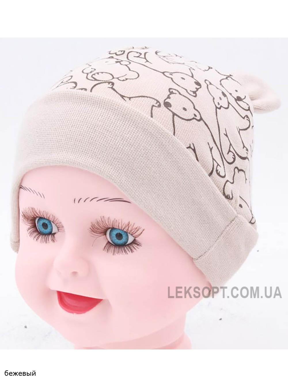 Детская трикотажная шапка Мишутка