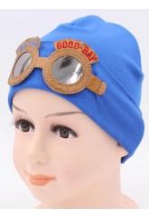Детская трикотажная шапка Пилот