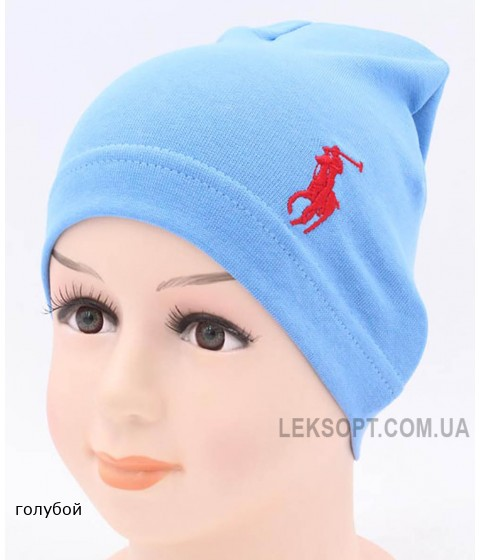 Детская трикотажная шапка Поло