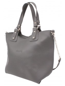 Женская модельная сумка Celine кожзам 42х30х15 - Ci103-125