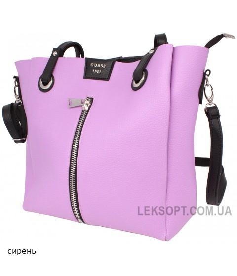 Женская модельная сумка Guess кожзам 34х31х13 - Gu102-125