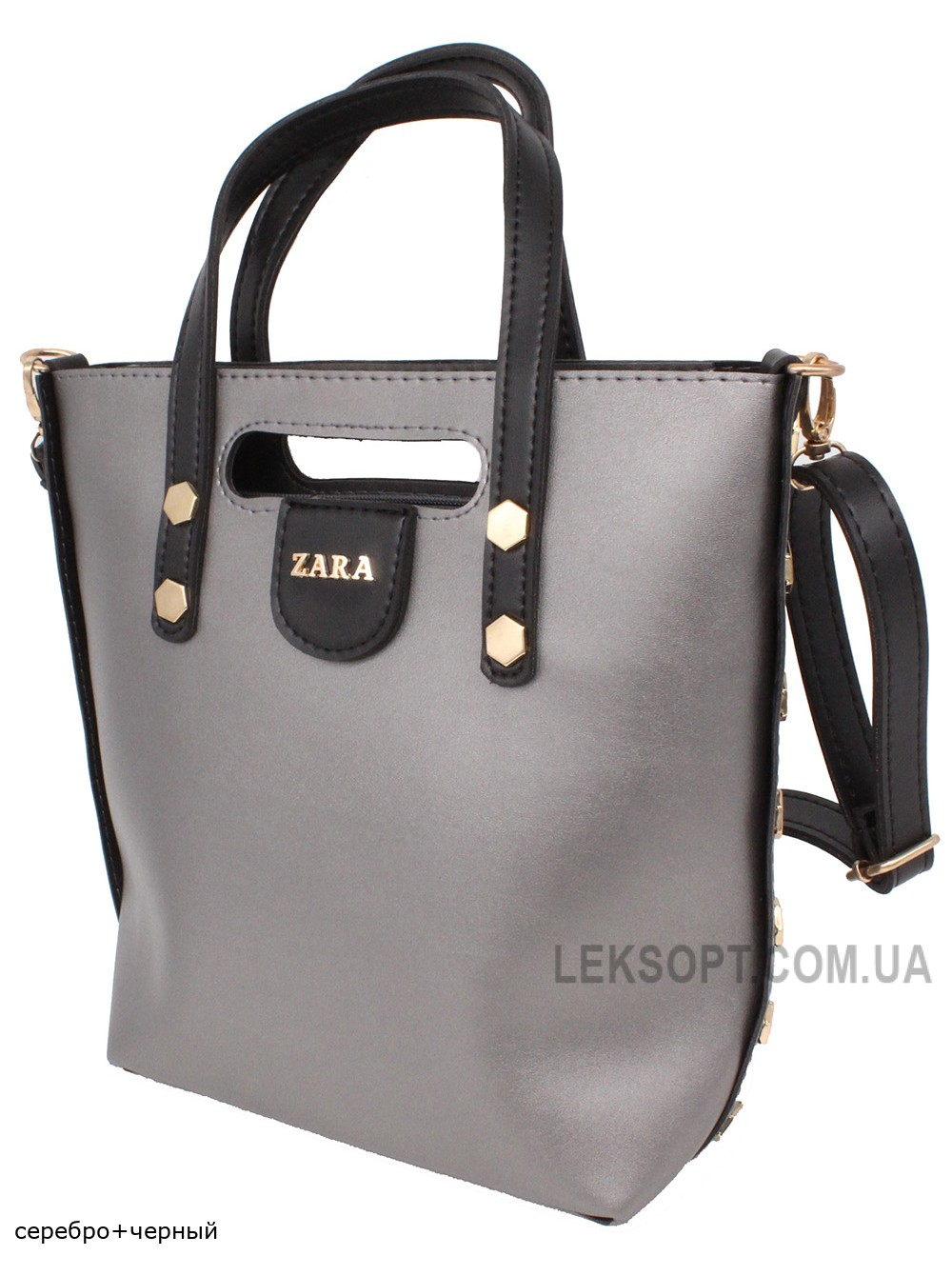 Женская модельная сумка Zara кожзам 29х25х11 - Za106-107