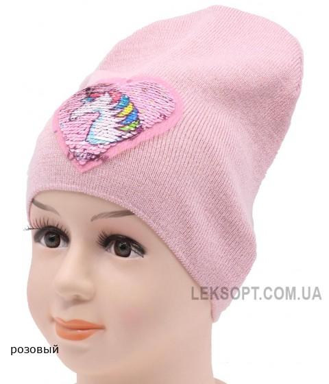 Детская вязаная шапка Сердце DV10022-48-52