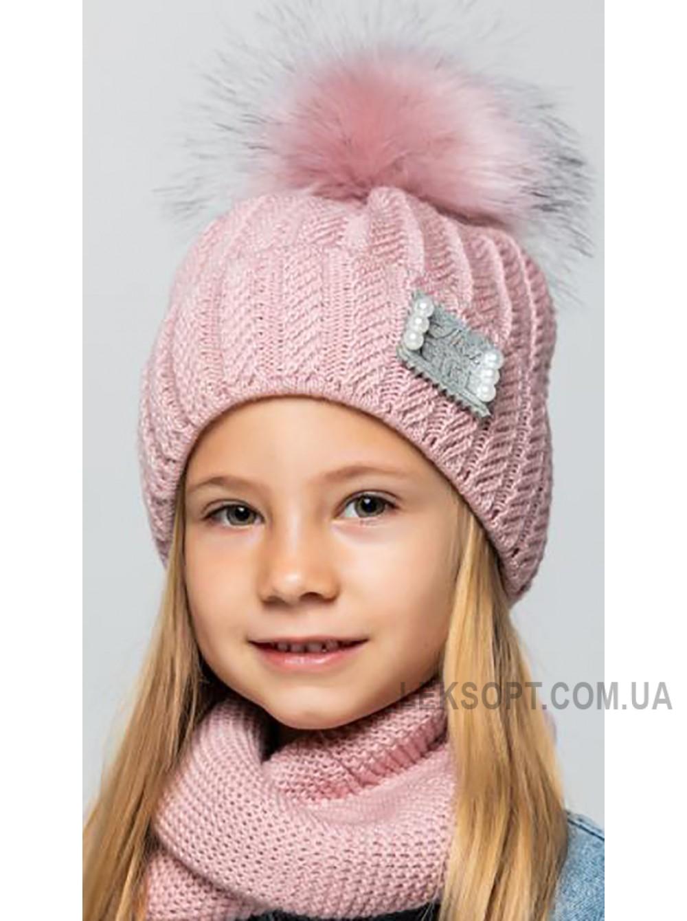 Детская вязаная шапка D609305-48-52 Скарлет