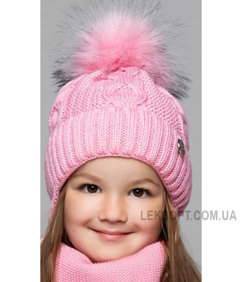 Детская вязаная шапка D662295-46-50 Ева