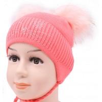 Детская вязаная шапка №2215-46-48