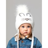 Детская вязаная шапка Банни D74537-44-48