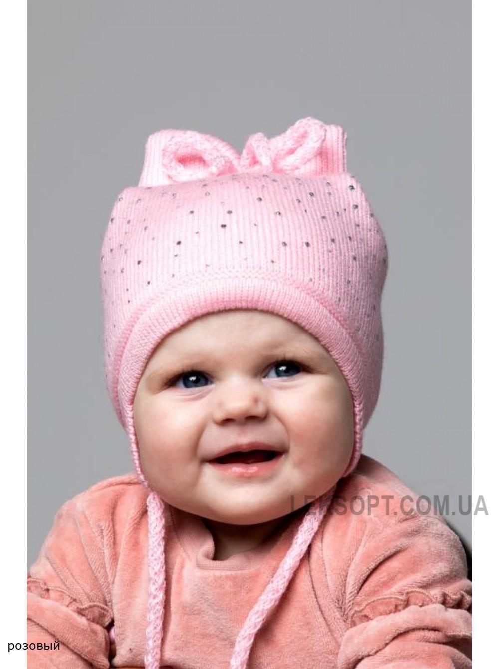 Детская вязаная шапка Блеск D77432-40-44