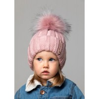 Детская вязаная шапка Бьюти D75032-44-48