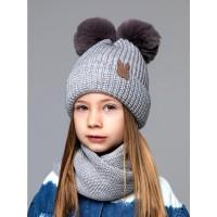 Детская вязаная шапка Зайка D72935-48-52