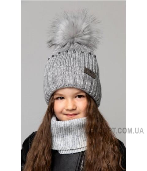Детская вязаная шапка Ника D76032-50-54