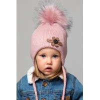 Детская вязаная шапка Ромашка D75232-44-48