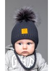 Детская вязаная шапка Жирафка D79832-38-42