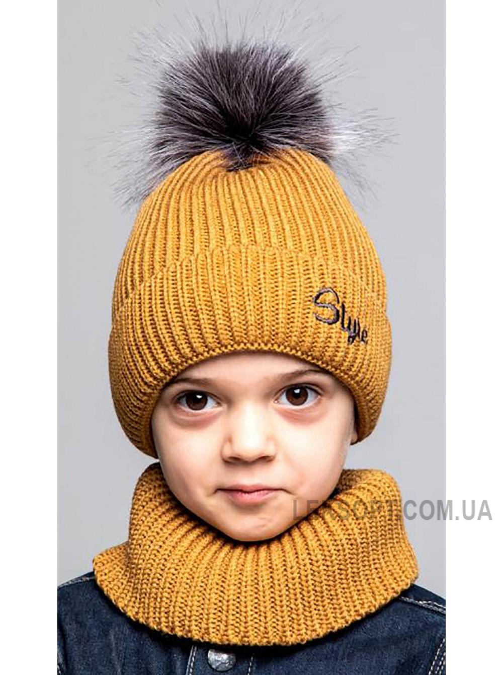 Детская вязаная шапка Комплект Классик Boy D77949-48-52